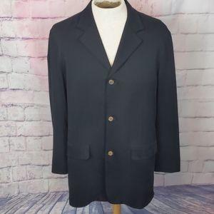 Tommy Bahama mens black jacket island soft size LG